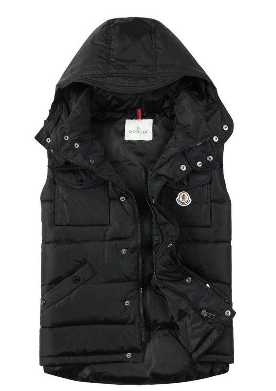 302de31e9 Moncler Vests For Men Multi Pockets Hooded Black  2900186  - £131.76 ...