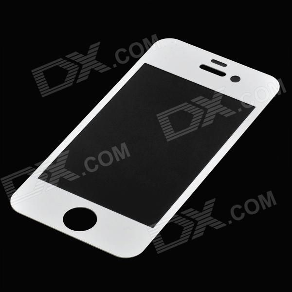 Protective Tempered Glass Front Screen Cover Sticker for Iphone 4 / 4S - White