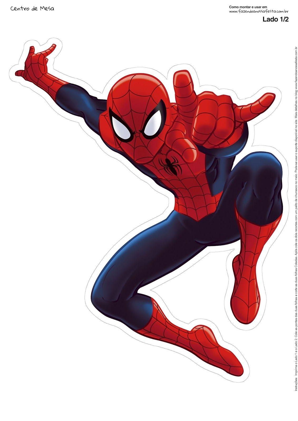 Spiderman Centros De Mesa Para Imprimir Gratis