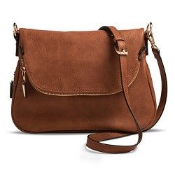 Ladies Saddle Foldover Flap Crossover Shoulder Messenger Faux Leather Satchel Ba