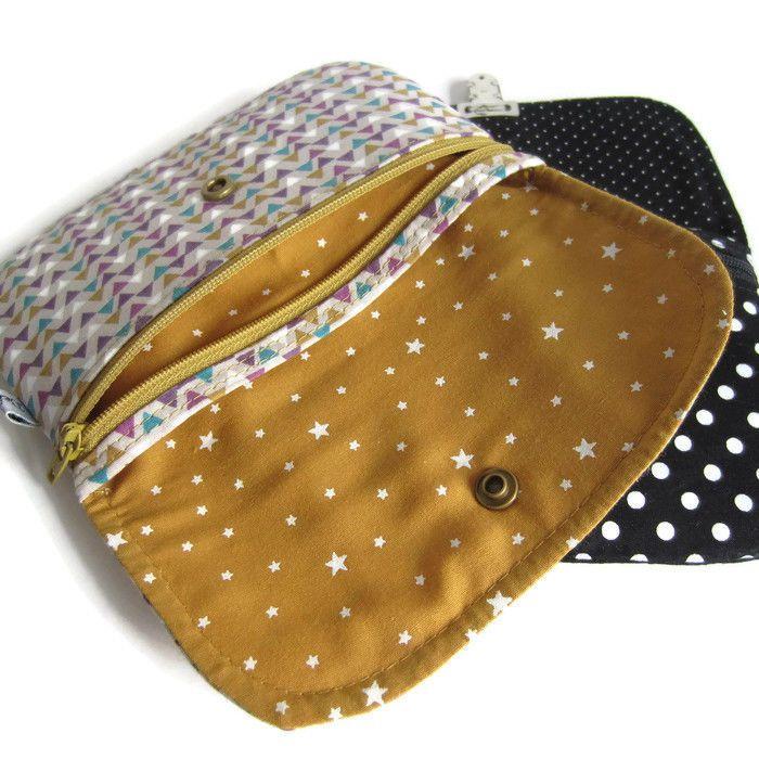 Tutoriel du porte monnaie achille patrons de couture chez makerist couture pinterest - Patron pochette couture gratuit ...