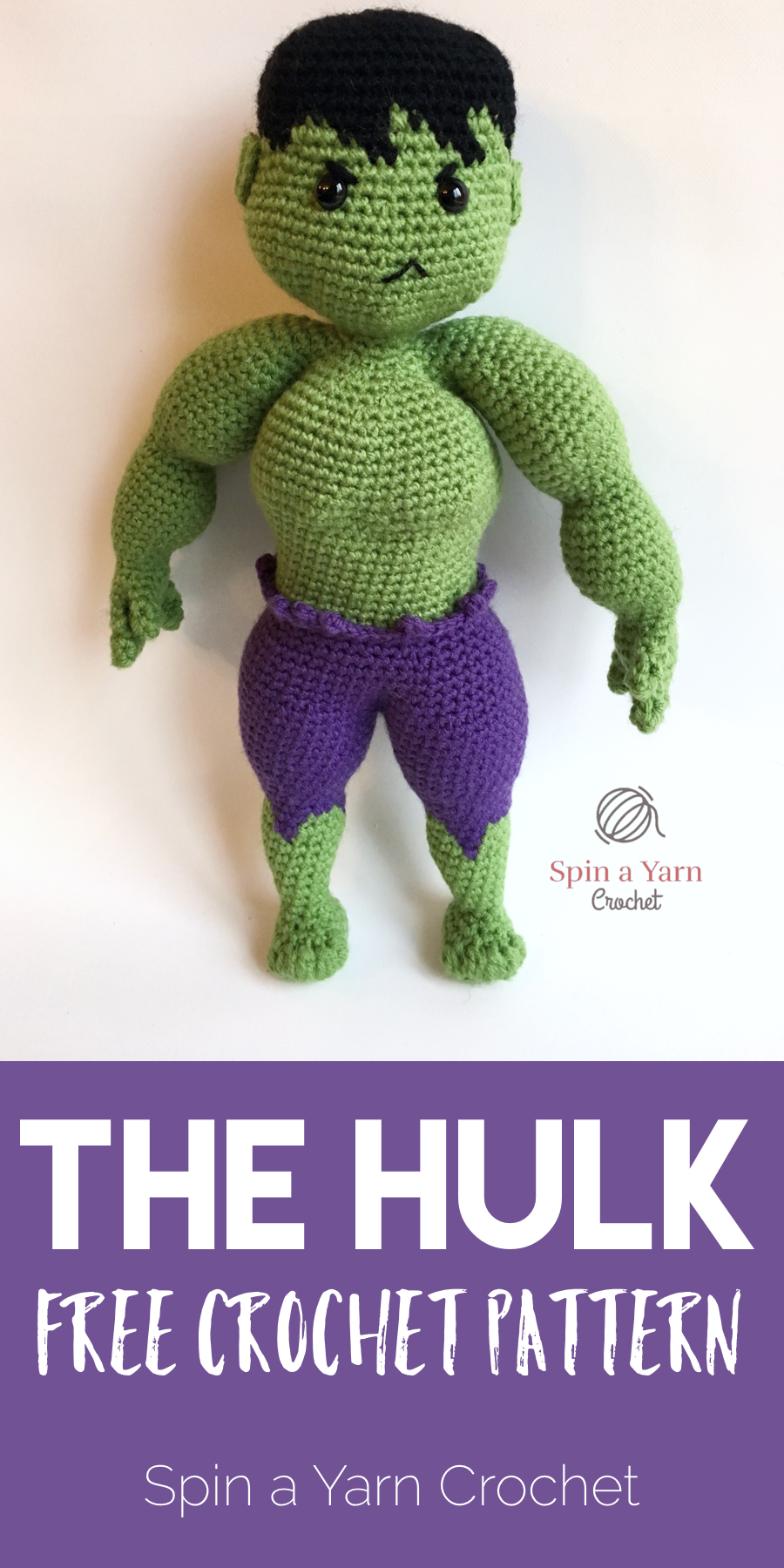 The Hulk Free Crochet Pattern | Crochet doll tutorial, Crochet ... | 1800x900