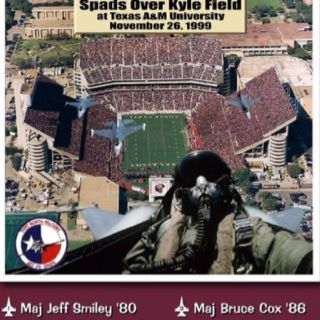 Missing man formation tribute to those 12 lost in the Aggie Bonfire collapse