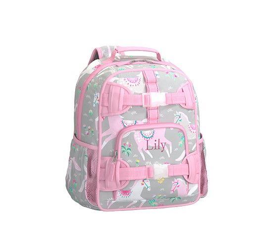 Mackenzie Gray Pink Horse Backpack Pottery Barn Kids
