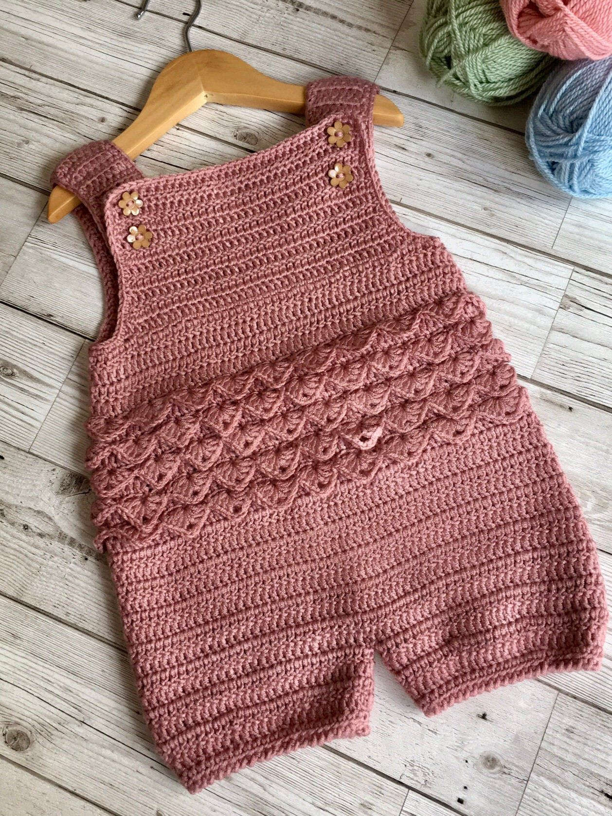 Photo of Crochet Pattern Baby Romper – Newborn to 24 months