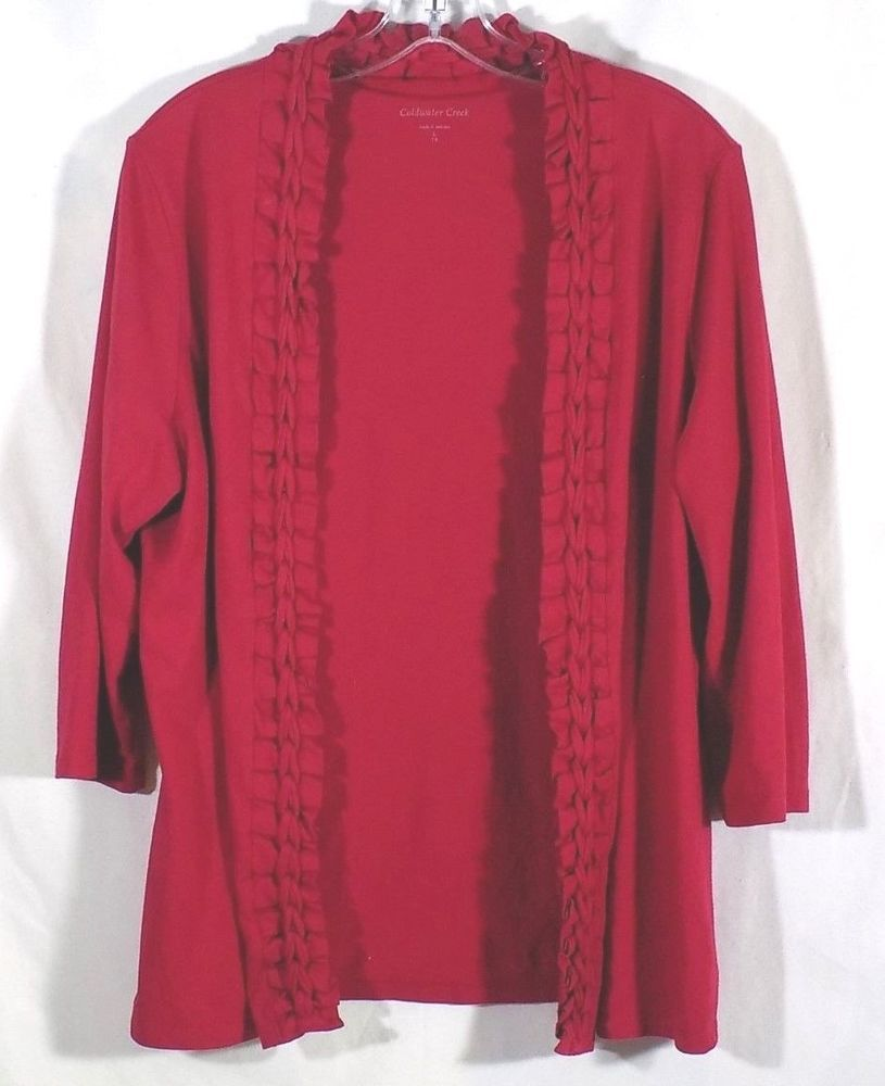 Coldwater Creek 14 Red Cardigan Wrap  90d512b3a