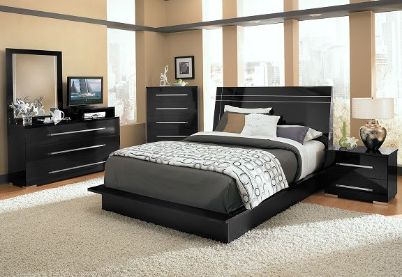 Dimora Black Ii Bedroom Collection Value City Furniture Queen