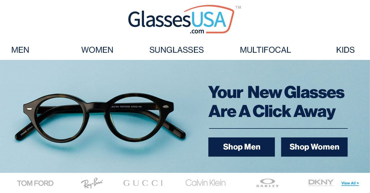 69549f96dc0 GlassesUSA.com offers prescription glasses online at discount prices. Buy  quality eyeglasses with a 365 days manufacturer s warranty