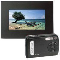 """Polaroid 5.1 Megapixel Camera (A520) plus 7"""" Digital Photo Frame (IDF-0720) by Polaroid. $119.99. Get the best of both worlds, a fantastic Polaroid digital camera with 5.1 megapixels, a 2"""" TFT-LCD display, 4x digital zoom, and 16 megabytes of on-board memory PLUS a 7"""" digital photo frame (including remote control) to show off your great photos."""