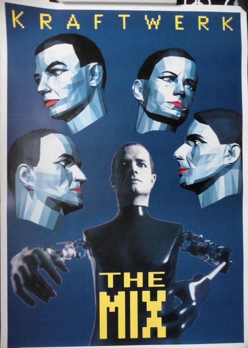 Kraftwerk Tourplakat Ca 60x90cm Von Kraftwerk The Mix Www Starcollector De Electronic Music Kraftwerk Music Poster