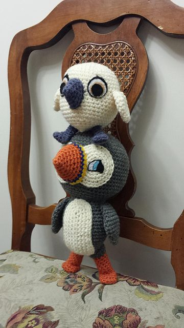 Baba and Oona Puffins Amigurumi from Puffin Rock - Free English ...