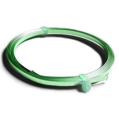 1 x Green Plated Copper 0.75 x 3mm x 1m Flat Tape Craft Wire Coil ...