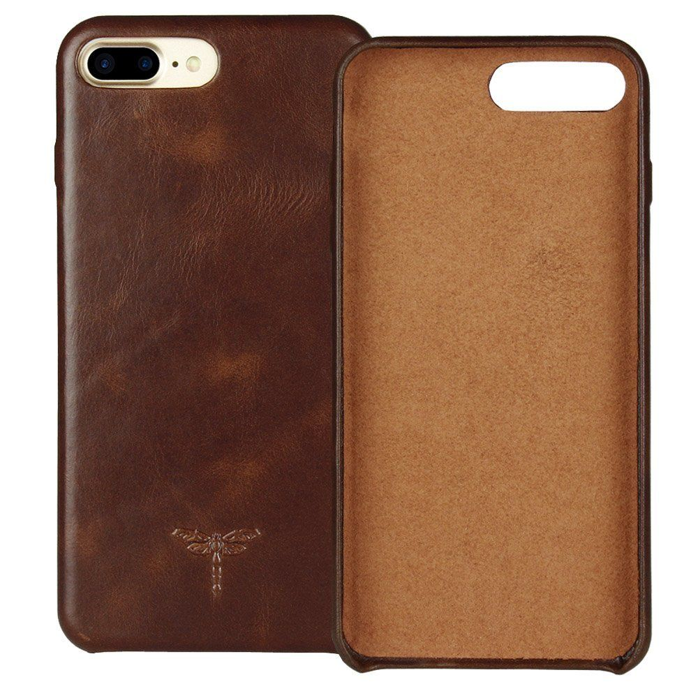 Iphone 7 Plus Case Iphone 8 Plus Case Frifun Genuine Leather Hard Back Case Thin Fit Snap Case Excellent Grip Fo Iphone 7 Plus Cases Iphone Cases Iphone 8 Plus