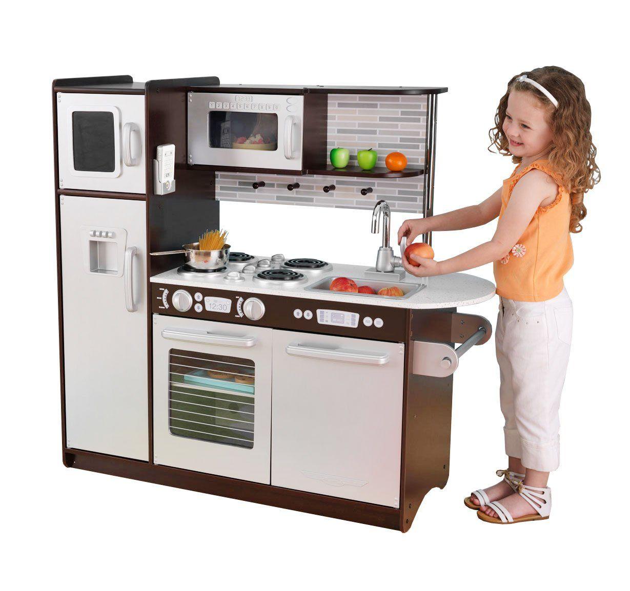 Wielka Drewniana Kuchnia Dla Dzieci Espresso Uptown Kidkraft Brykacze Pl Internetowy Sklep Z Zabawkami Dla Dzieci Play Kitchen Kidkraft Vintage Kitchen Toddler Play Kitchen