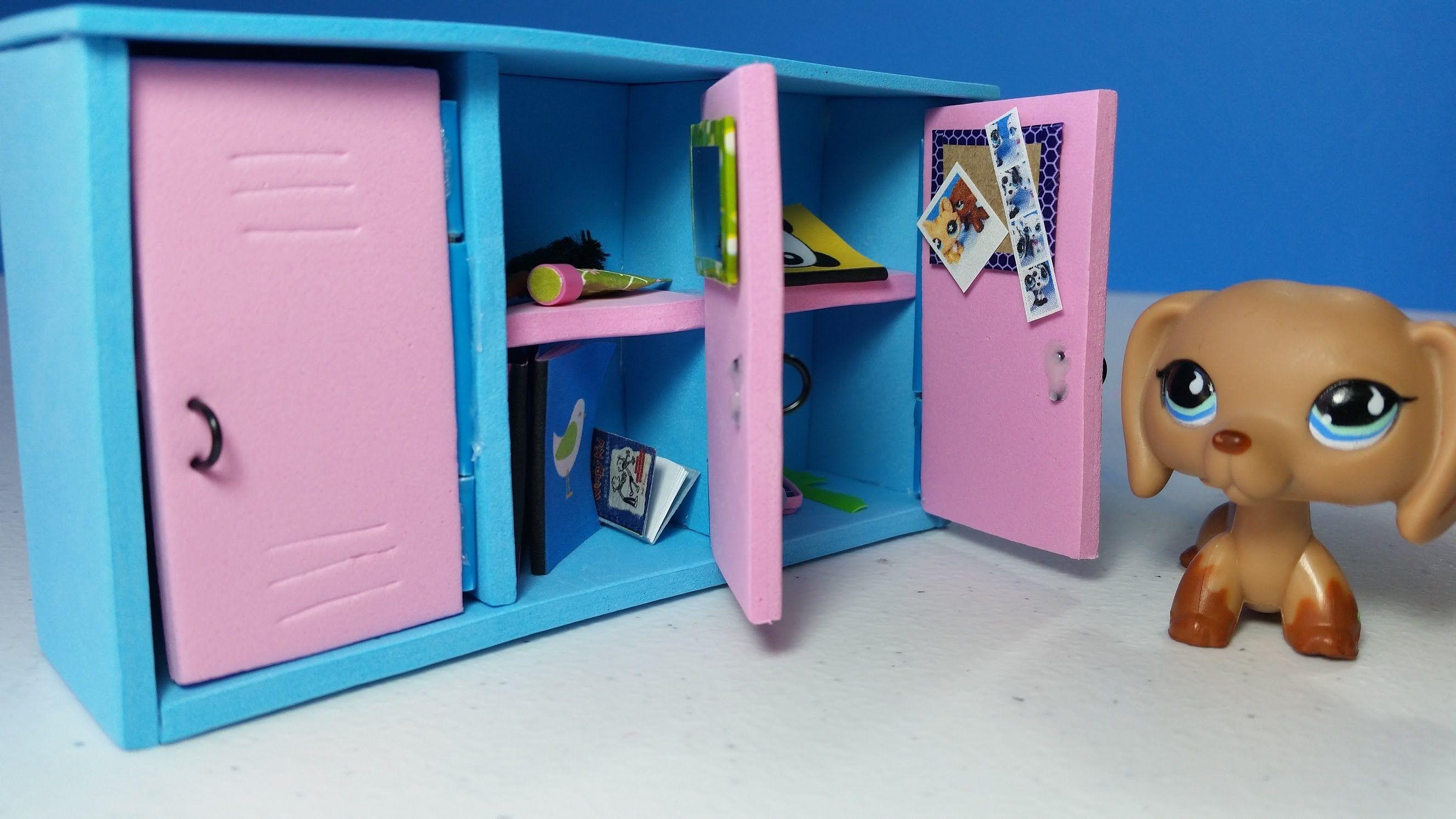 Diy Doll Lockers For Lps Or Mlp Lps Diy Accessories Diy Doll Locker Lps Crafts