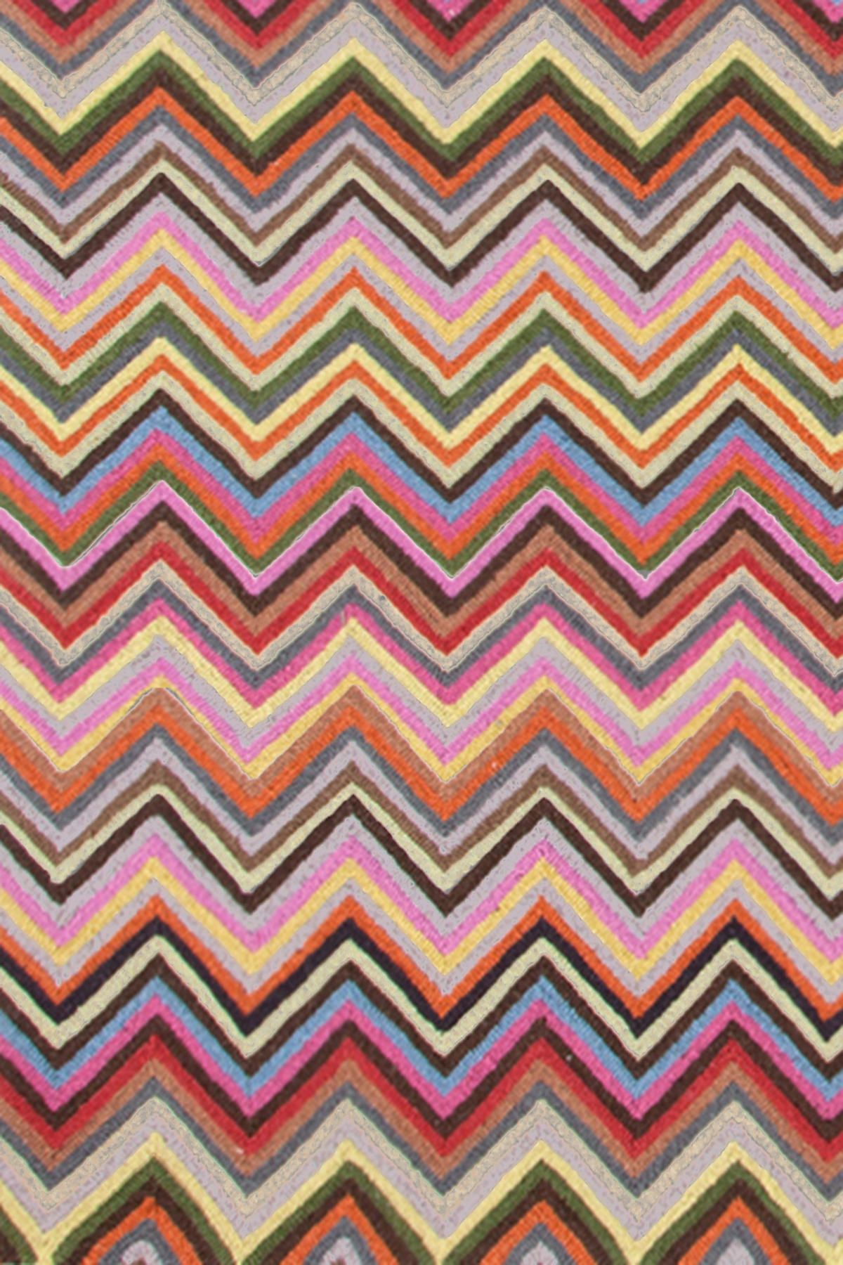 Dash Albert Zigzag Multi Micro Hooked Rug Add A Bit Of Zip