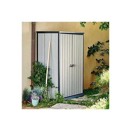 Garden Sheds 6 X 2 6x2 oakland high store plastic tall cabinet | flat roof, garden