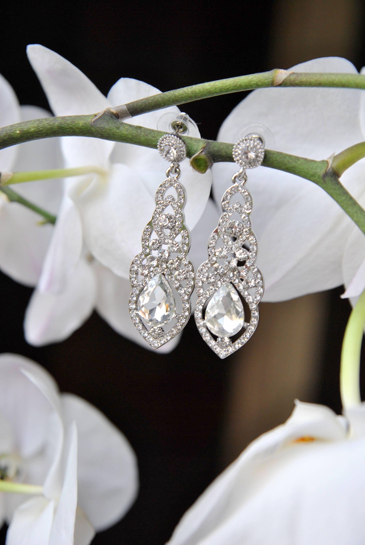 Laura Krysztalowe Kolczyki Slubne I Wieczorowe Cyrkonieod Blusskyhorizons Wedding Shoe Diamond Earrings Earrings