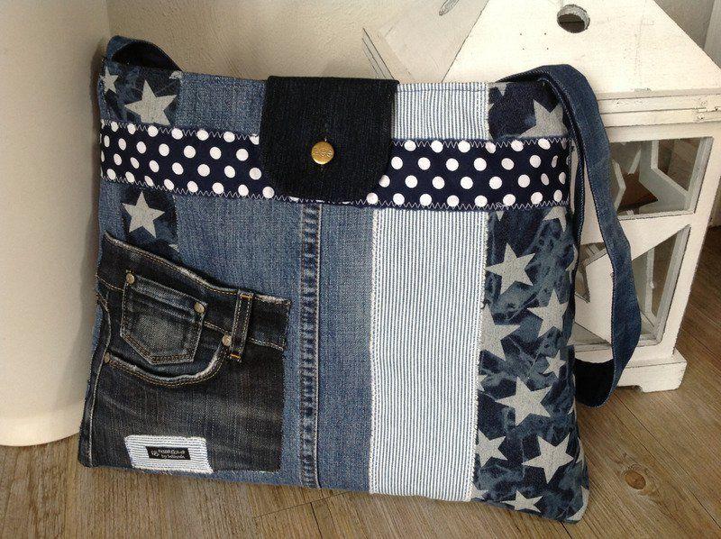 1379683292 6 n hen jeans tasche jeanstasche und taschen. Black Bedroom Furniture Sets. Home Design Ideas