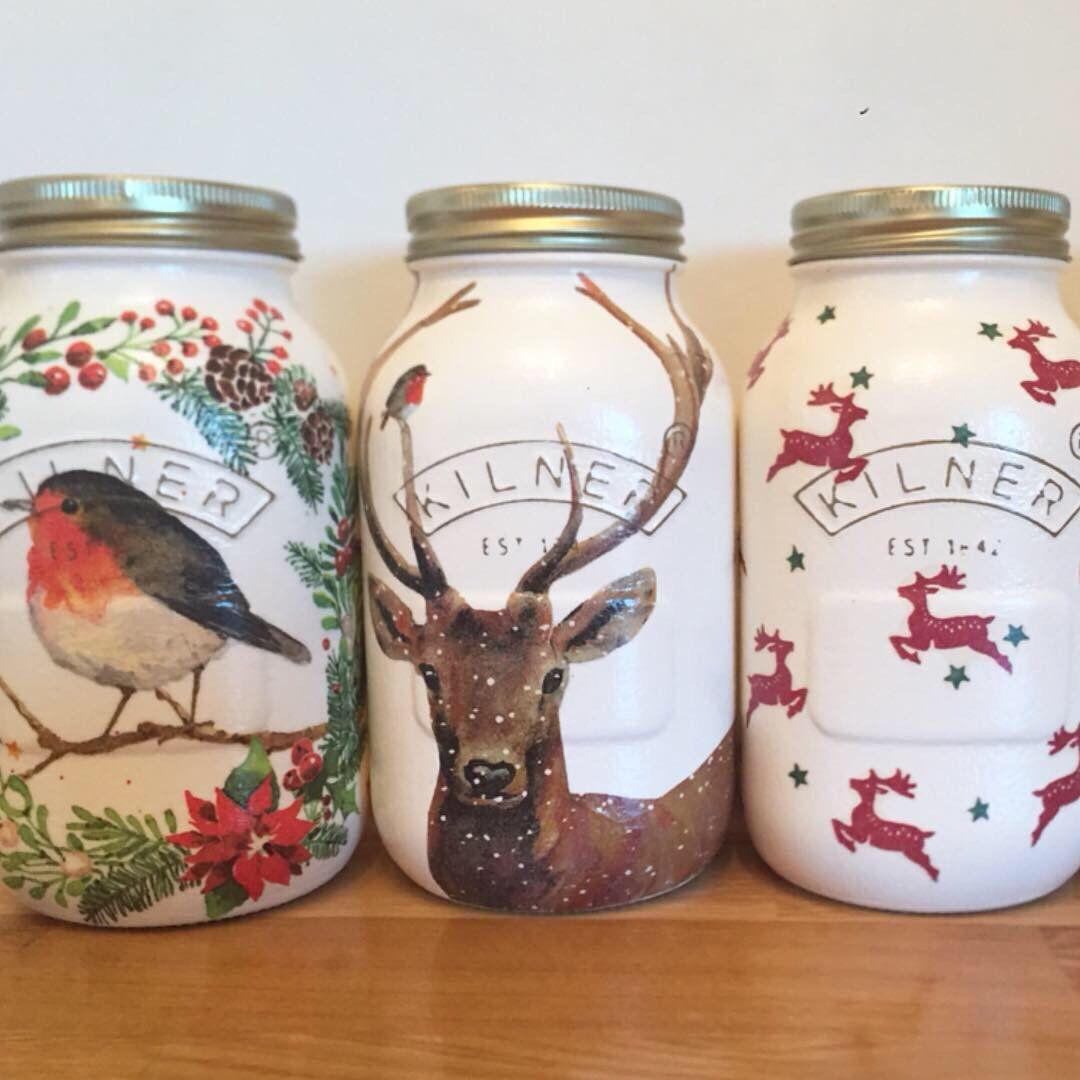Christmas Robin Kilner Jar Gift Present Decoration Wreath By Ohsowonderfuldesigns On Etsy Https Www Etsy Com Uk Listin Kilner Jar Gifts Kilner Jars Jar Gifts