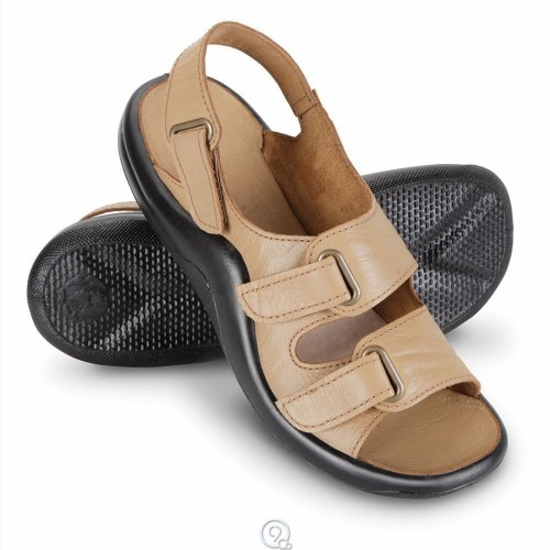 228fb3964e Plantar Fasciitis – Prevention, Treatment and Healing Techniques. The Lady's  Walk On Air Strap Sandals Hammacher Schlemmer ...