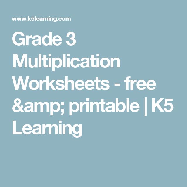 Grade 3 Multiplication Worksheets - free & printable | K5 Learning ...