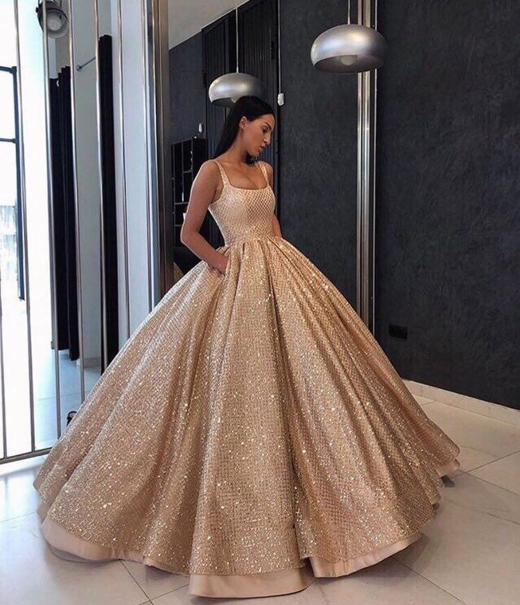 Beautiful golden gown from lia stublla | ~•Dresses•~ | Pinterest ...