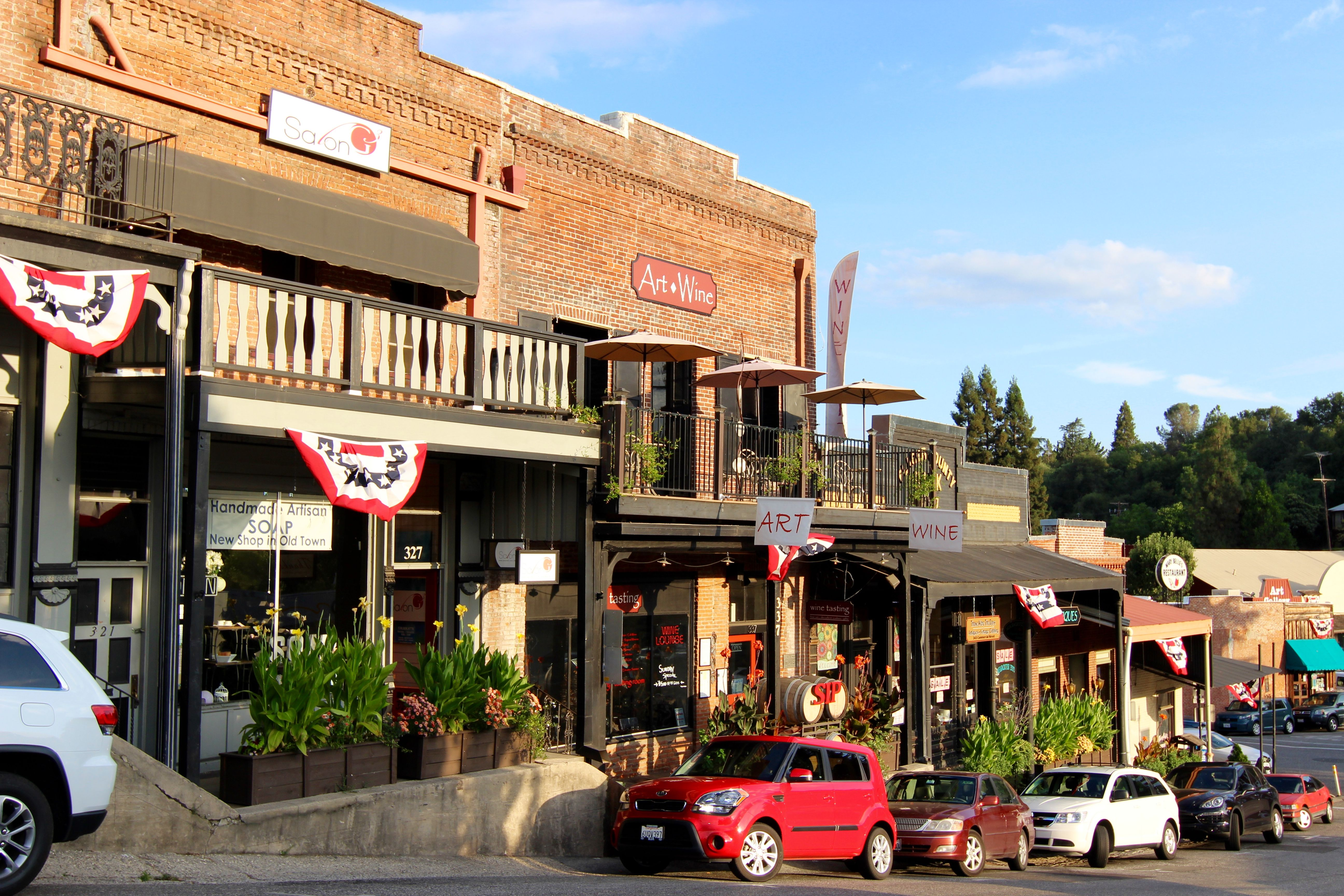 Old Town Auburn Ca Located About 30 Minutes From Grass Valley T R A V E L Pinterest