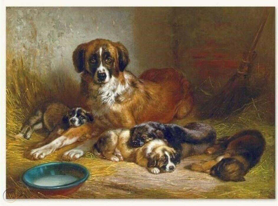 Victorian Trading Co A Soporific Family Austrian Shephard Dog Family Art Print 1997508108 In 2020 Family Art Family Art Print Puppy Art