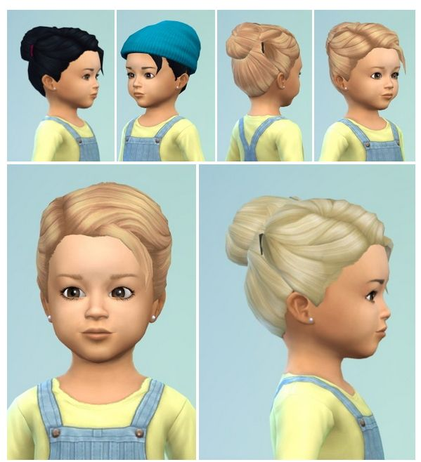 Toddler's HairBun with Clips at Birksches Sims Blog • Sims 4 Updates