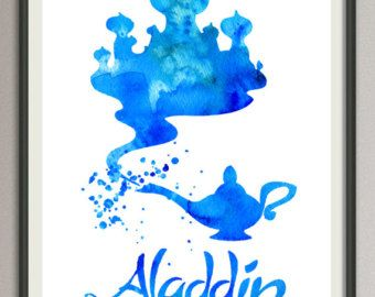 aladdin painting – Etsy