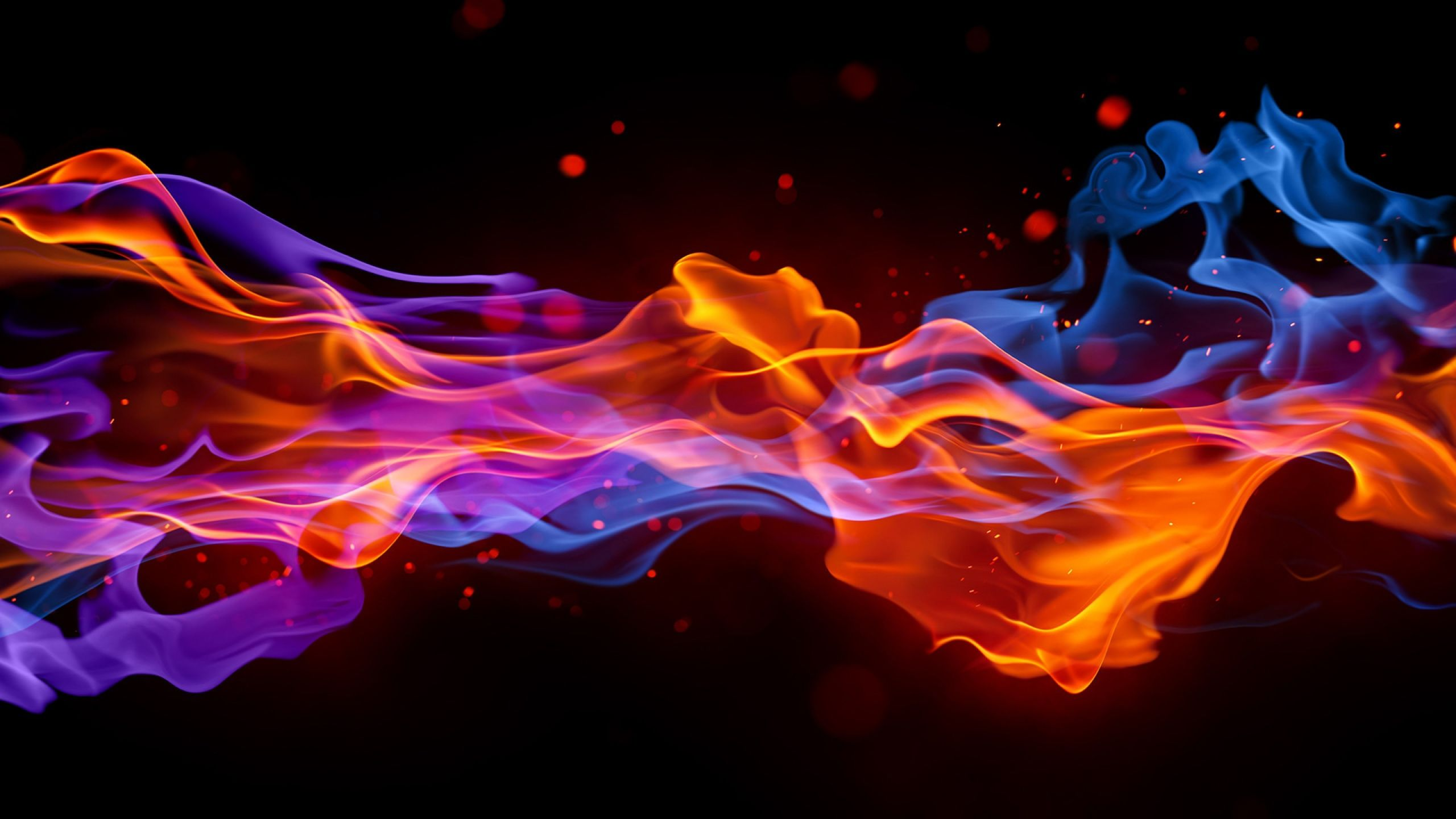 Download Wallpaper 2560x1440 Smoke, Fire, Bright, Colorful