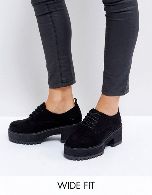 ASOS OMEGA Wide Fit Chunky Lace Up