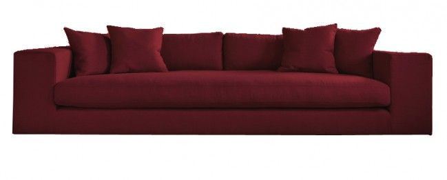 Straton Modern Style Large 4 Seater Sofa Maroon | Funique.co.uk