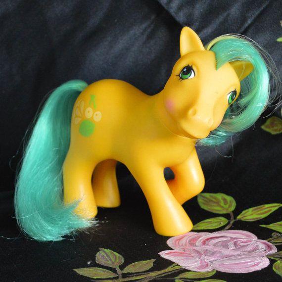 Vintage My Little Pony Tutti Frutti Yellow Orange Green Fruit