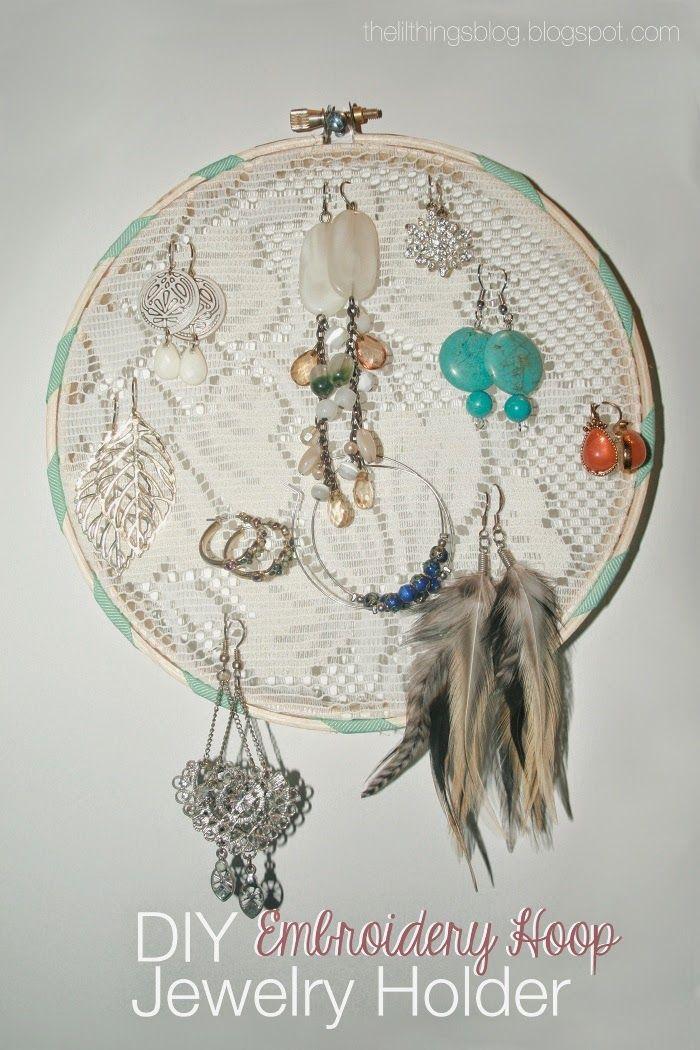 Repurpose embroidery hoop earring holder best of pp