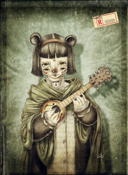 Girl II Art Print by Fernando Forero