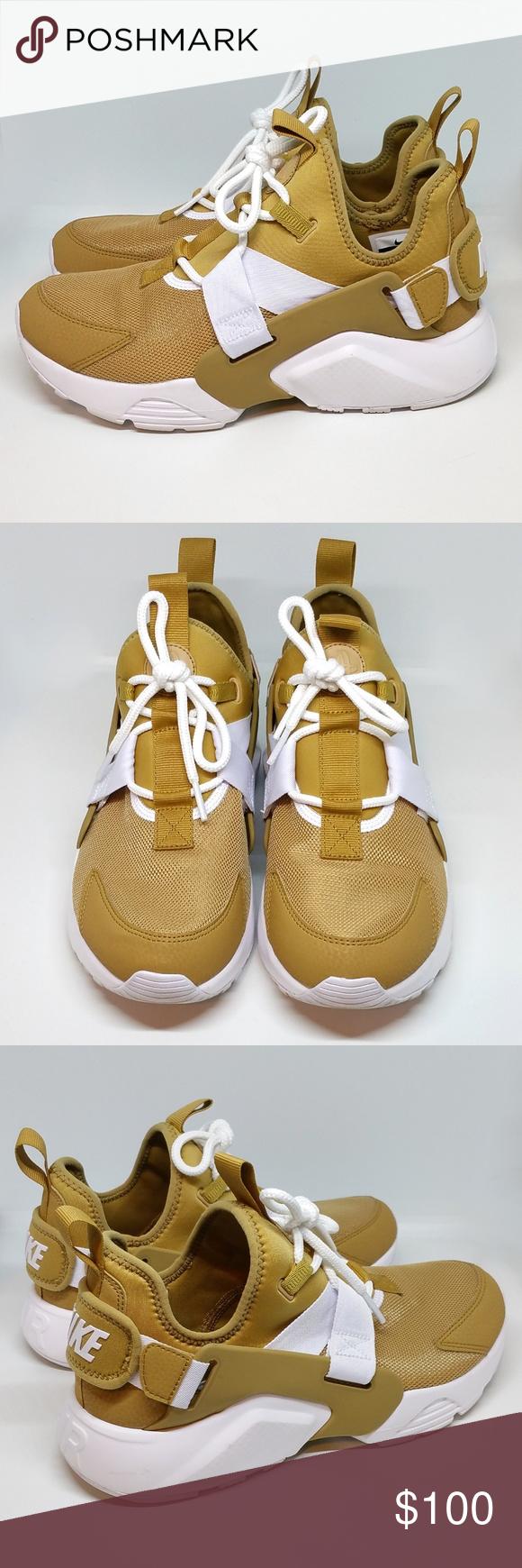 ae94c834f65d Nike Air Huarache City Low Elemental Gold AH6804 Amazing gently used Nike  Air Huarache City Low
