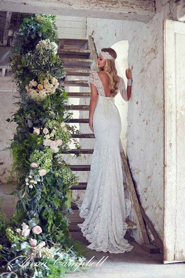 Boho bride dress from Anna Campbell