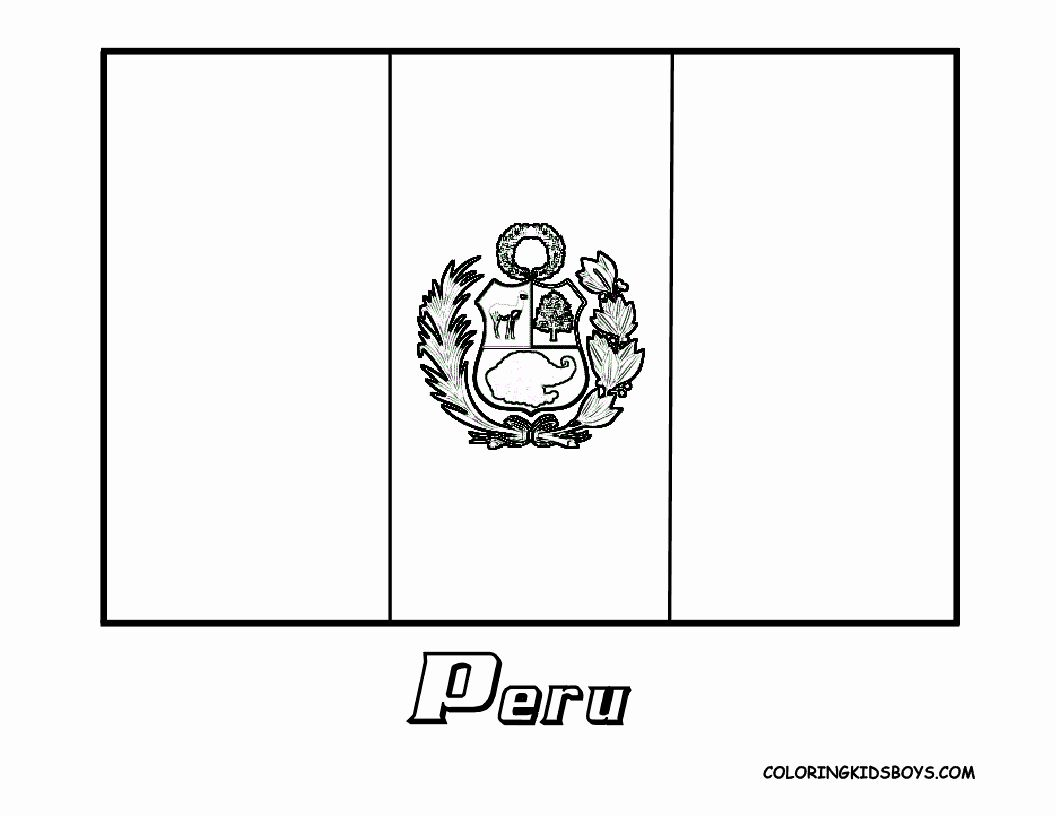 Peru Flag Coloring Page Luxury Peru Flag Coloring Page Free Coloring Home Flag Coloring Pages Coloring Pages Peru Flag