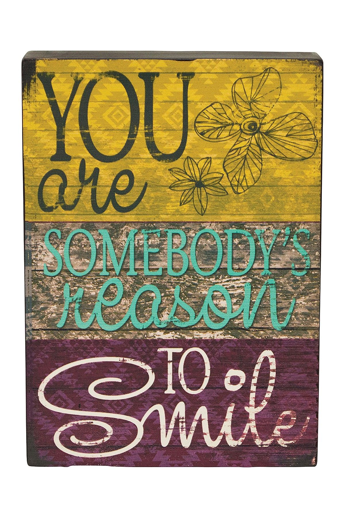 Reason to Smile Wood Sign | Art & canvas | Pinterest | Wood signs ...