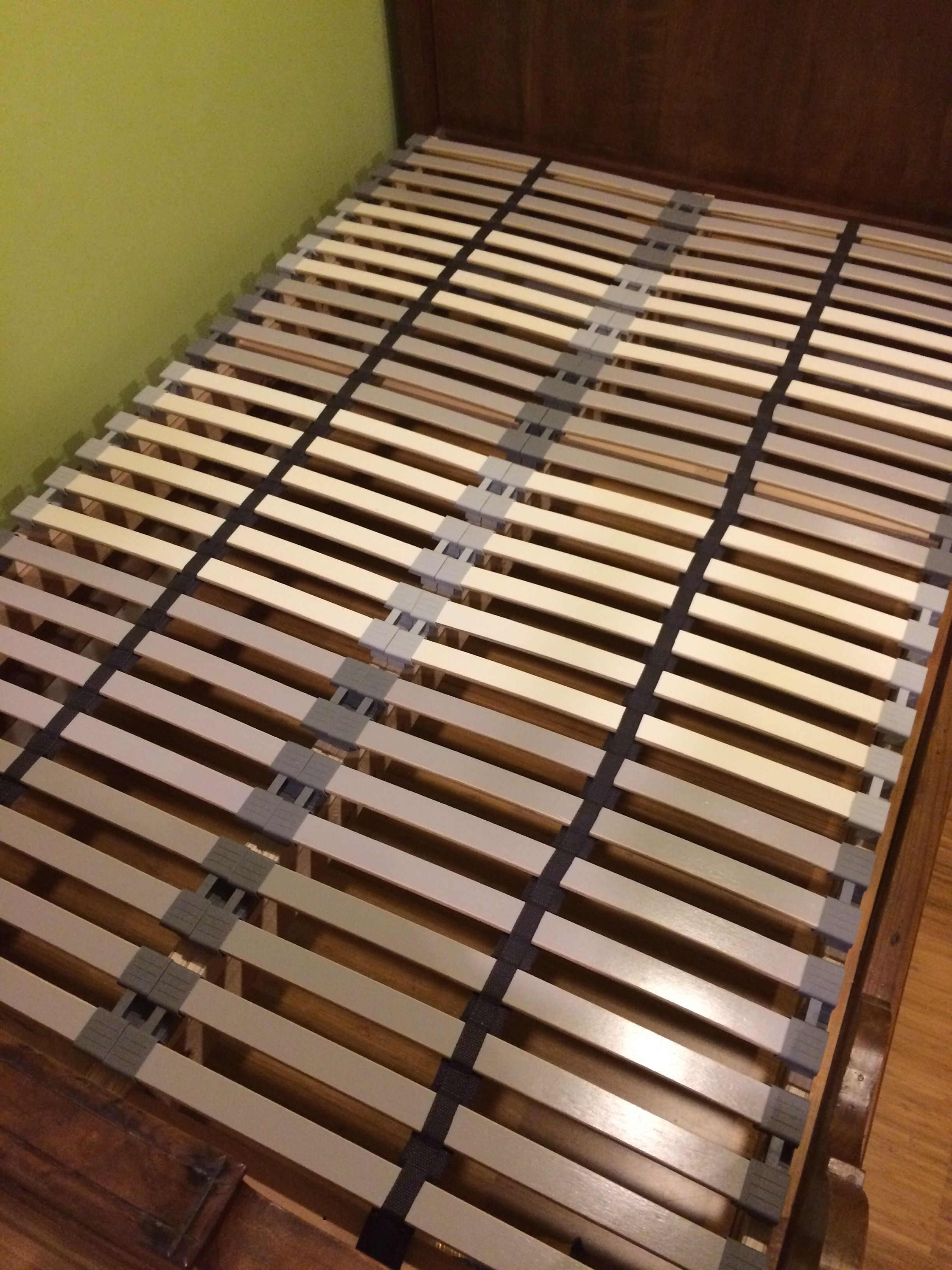 Best Ikea Hack Custom Size Slatted Bed Base Using A Cheap 640 x 480