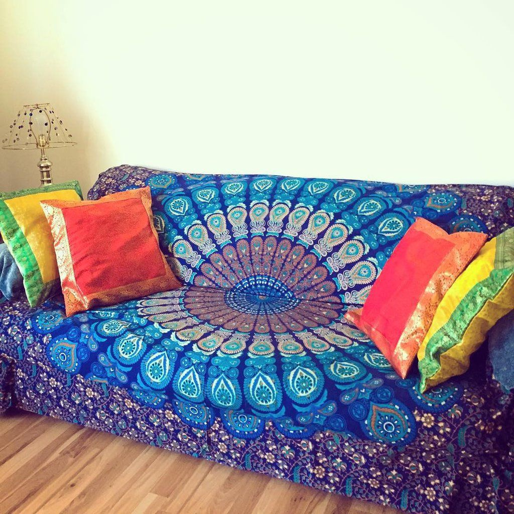 Bohemian Sofa Couch Cover Boho Tapestry Wall Hanging