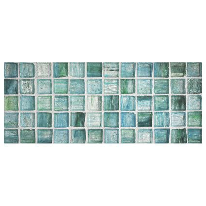 "Complete Tile Collection Zumi Glass Mosaic - Sapphire Oasis - Natural, 1"" Square Recycled Glass Mosaic, MI#: 038-G2-263-006, Color: Sapphire Oasis"