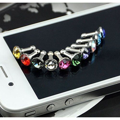 Diamond Anti Dust 3.5mm Earphone Jack Plug Stopper for iPhone 4 4S Galaxy (Random Color) by gamesalor, http://www.amazon.com/dp/B007PCU95C/ref=cm_sw_r_pi_dp_Vsvjrb0HPC6E0