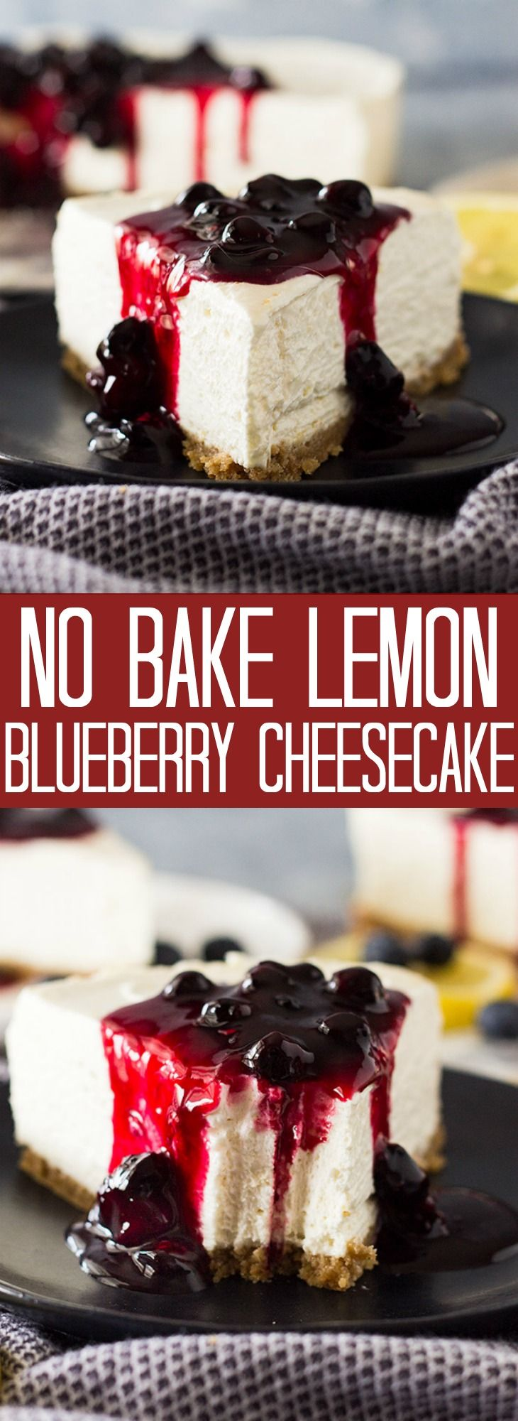 No Bake Lemon Blueberry Cheesecake | Countryside Cravings