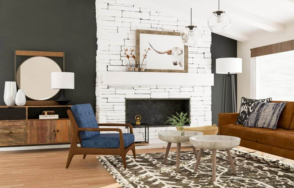 27 Mid Century Modern Ideas For Your Living Room In 2021 Mid Century Modern Living Room Modern Rustic Living Room Living Room Design Modern