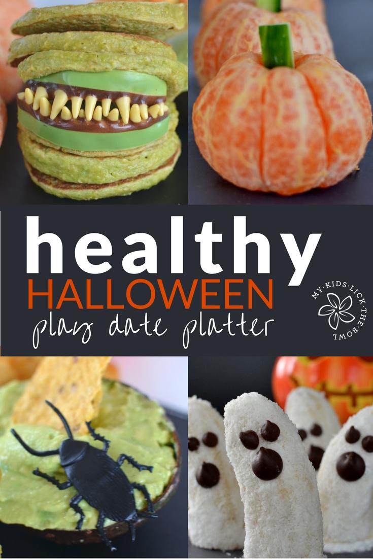 a healthy halloween kids play date platter | food platters