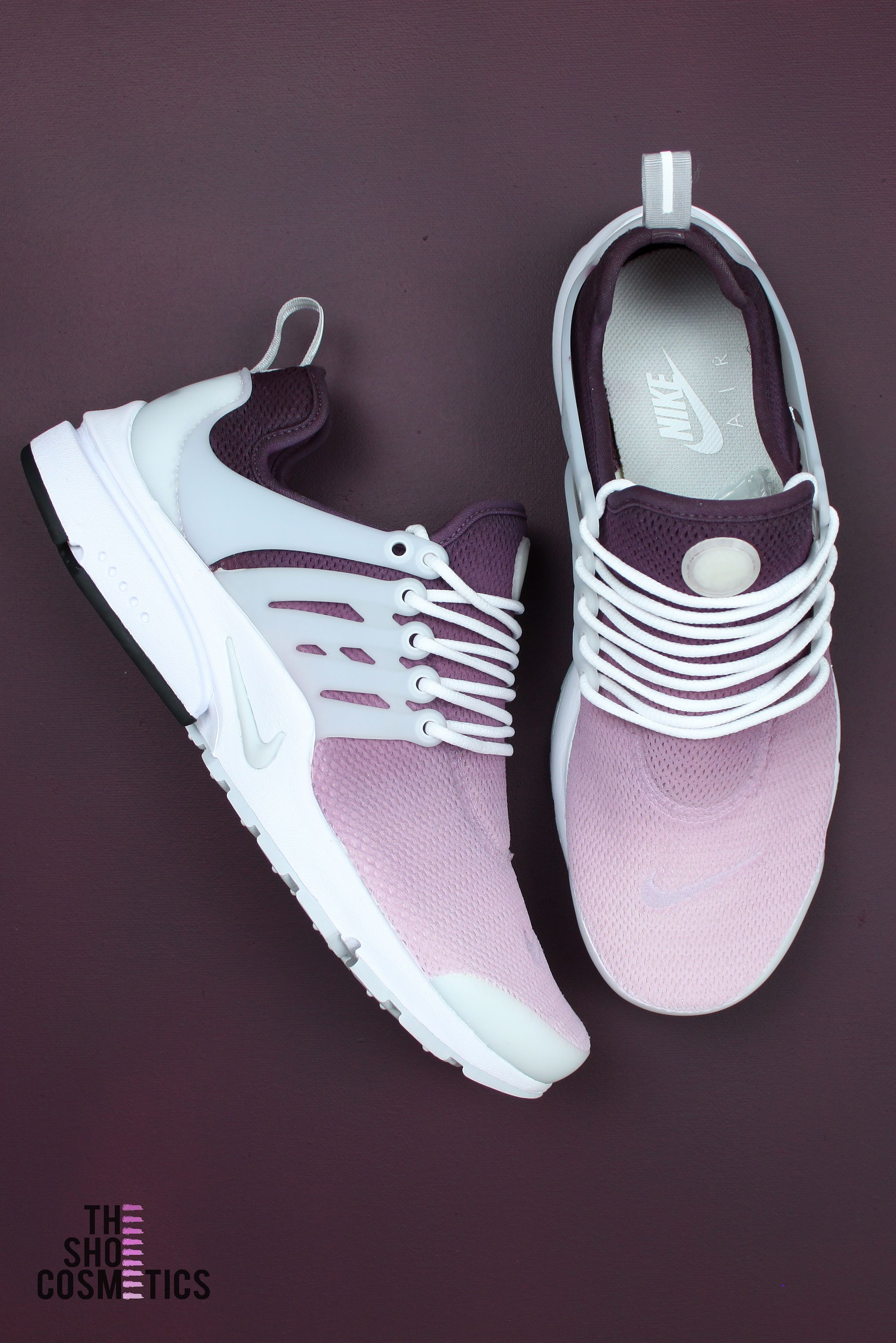 e7de373f3 Cute women's Custom Nike sneakers. TheShoeCosmetics Maroon ombre girly Nike  Air Presto are a stylish, comfy & fashionable summer trainer perfect for  for ...
