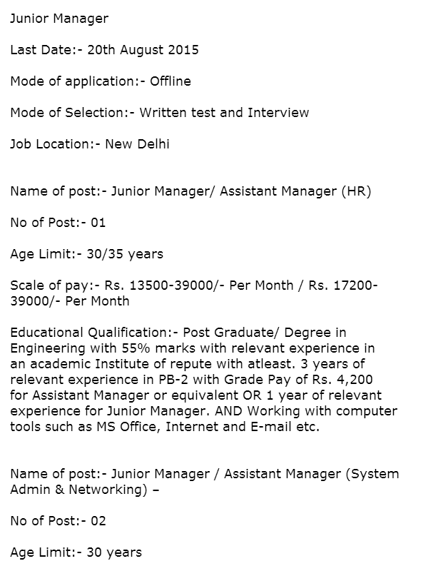 Sarkari Naukri In Iiit Delhi  Government Jobs In Delhi